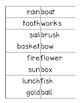 Compound Word Matching Center and Recording Sheet