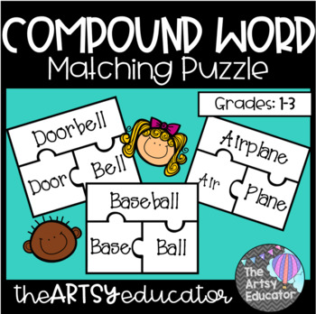 Compound Word Match Puzzle Game *FREEBIE*