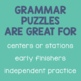 Compound Word Matching Puzzles
