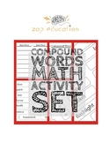 Compound Word Math - Lesson and THREE Printable Card Sorting Sets