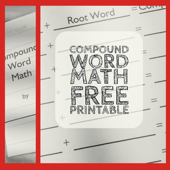 Compound Word Math Worksheet : Language- Compound Words - FREE  Printable
