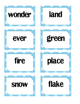 Compound Word Memory ~ Winter Holiday Edition