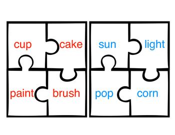 Compound Word Mini Puzzles