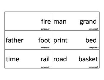 Compound Word Montessori Card Sets