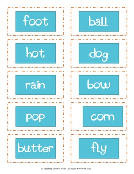 Compound Word Packet With 6 Activities
