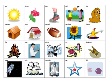 Compound Word Picture Cards