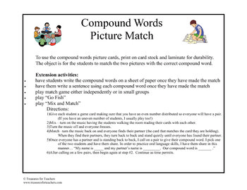 Compound Word Picture Match