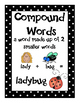 Compound Word Poster, Matching Cards, and Worksheet