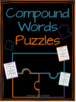 Compound Word Puzzle Activity