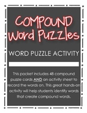 Compound Word Puzzle Activity for Grades 2, 3, 4 {Literacy Station}