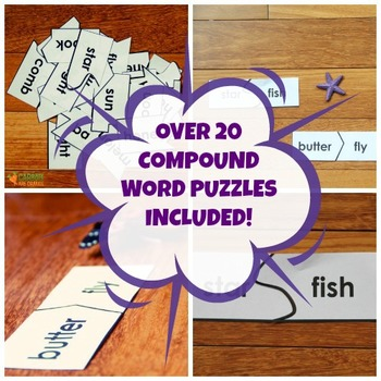 Compound Word Puzzle Cards
