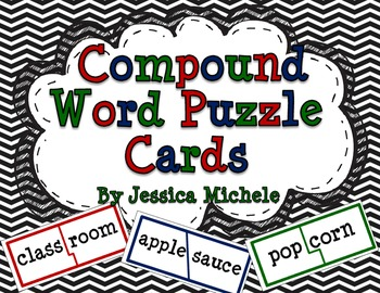 Compound Word Puzzle Cards {Compound Wordo Words}