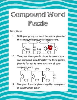 Compound Word Puzzle Center