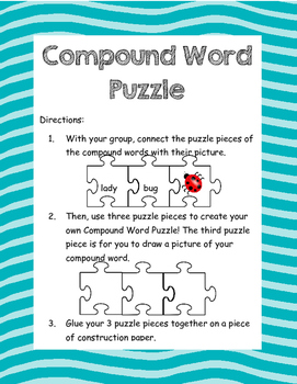 Compound Word Puzzle Center
