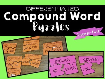 Compound Word Puzzles {Freebie!}
