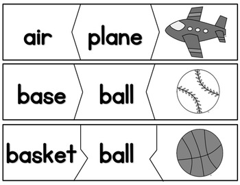 Compound Word Puzzles (CCSS aligned)