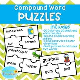 Compound Word Puzzles, Compound Word Centers, Compound Wor