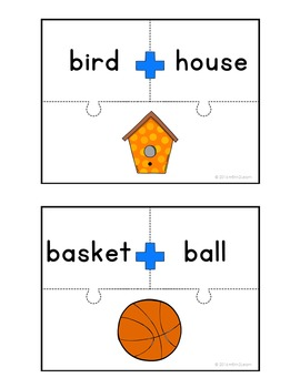 Compound Word Puzzles Kindergarten First Grade Second Grade