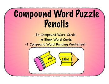 Compound Word Puzzles, Pencils