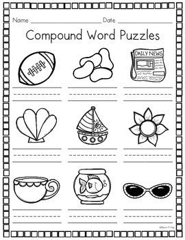 Compound Word Puzzles {Set 1}
