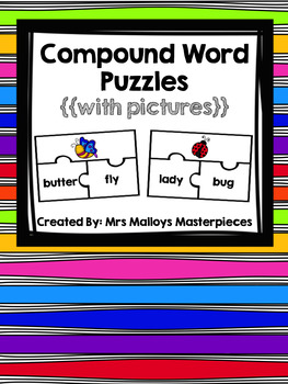 Compound Word Puzzles with Pictures