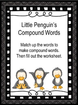 Compound Word Puzzles with worksheet