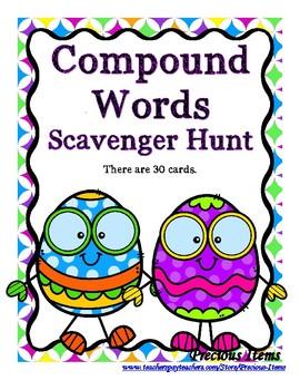 Compound Word Scavenger Hunt - Eggs