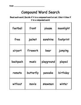 Compound Word Search