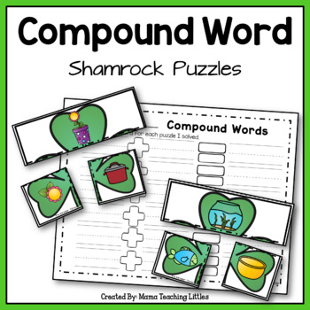 Compound Word Shamrock Puzzles