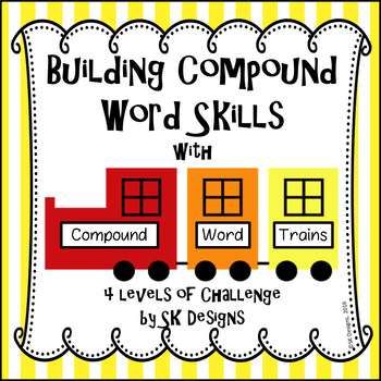 Compound Word Activity Fun No Prep w 4 Challenge Levels & HOTS Bulletin Board
