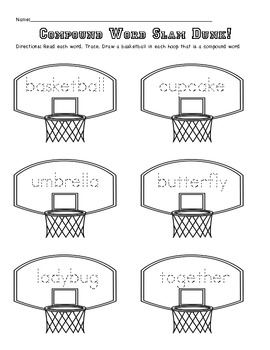 Compound Word Slam Dunk!