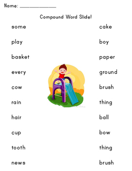 Compound Word Slide (worksheet)