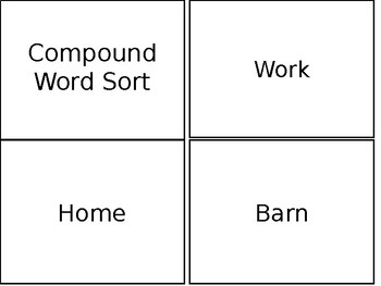Compound Word Sort