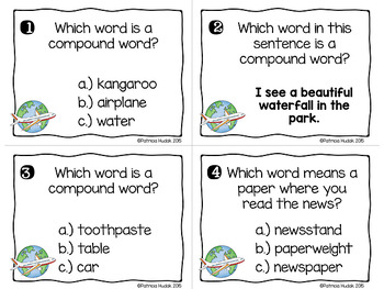Compound Word Task Cards