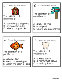 Compound Word Task Cards Activity