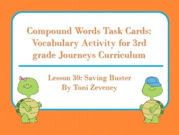 Compound Words Task Cards for Journeys 3rd Grade