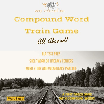 Compound Word Train - Study - Compound Word Game - Printable Board Game - Puzzle