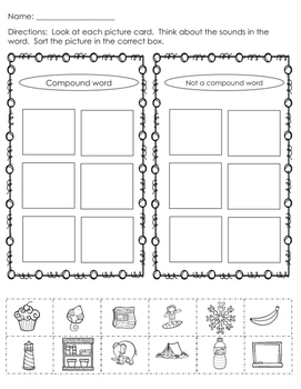 Compound Word Worksheet Pack