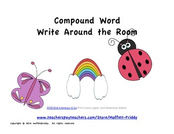 Compound Word Write Around the Room