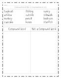 Compound Word/Not a Compound Word Sort