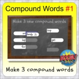 Compound Words #1 BOOM distance learning compound word exercises