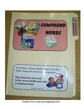 Compound Words #1: Laura Numeroff File Folder Activity