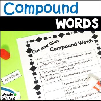 Compound Words Grammar ELA activities