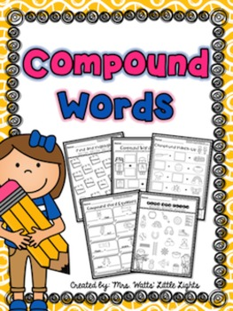 Compound Words Printables and Centers