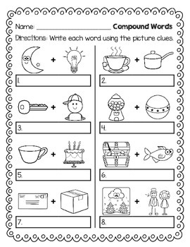 COMPOUND WORDS - 10 pages included!
