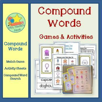 Compound Words Word Work - Games, Activities & Word Search