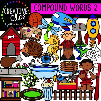 Compound Words 2 {Creative Clips Digital Clipart}