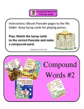 Compound Words #2: Laura Numberoff File Folder Activity