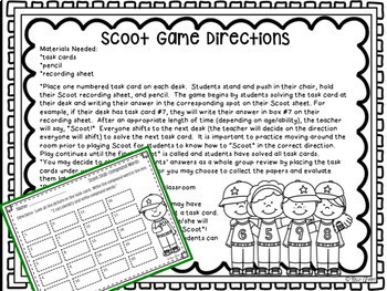 Compound Words:  Task Cards and Activities