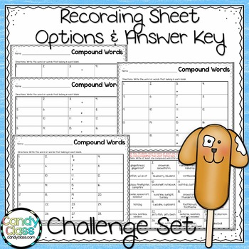 Compound Word Task Cards - The Challenge Set